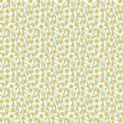 Lewis & Irene Flo's Little Flowers - 4998 - Daffodils on White - FLO3-1 - Cotton Fabric